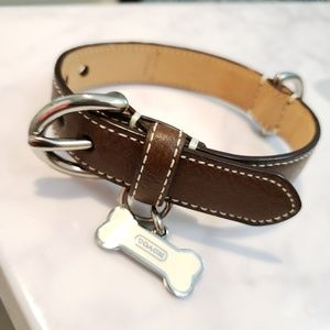 Authentic Coach XS Dog Collar NWOT Brown